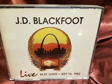 J.D. BLACKFOOT Live in St. Louis 1998 2 CD set Inserts NEW JD PSYCH! Ships fast!