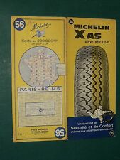 Carte MICHELIN n° 56 Paris REIMS 1967