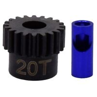 Hot Racing NSG20M06 20T Mod 0.6 Steel Pinion Gear 5mm or 1/8 Bore
