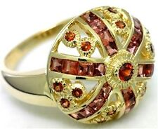 1.90ct Garnet 9ct 375 Solid Gold Antique Style Ring, Sz N/7.0 - 30 Day Returns