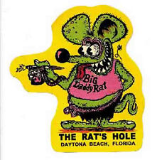 "Daytona Beach  FL  "" Rats Hole ""   Vintage Style Travel Decal  Surfing Hot Rod"