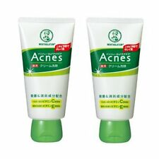 Rohto Mentholatum Acnes Medicated Face wash Cream 130g x 2pcs Free Shipping