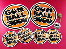 Gumball 3000 Decal Stickers Set