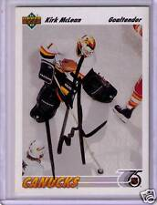 Canucks Kirk McLean Hand Signed Autographed Card UD