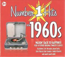 NUMBER 1 HITS OF THE 1960S 60s 2 CD SET Elvis Adam Faith Cliff Ray Charles +more