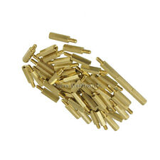 50pcs New Brass Hex Stand-Off Pillars Male to Female 6mm + 12mm M3 Good Quality