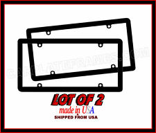 2x lot of 2 THIN STYLE BLANK easy ez view License Plate Frame
