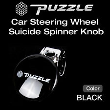 Puzzle Car Steering Wheel Suicide Spinner Knob Power Handle Black 1ea