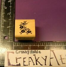 TINY FLOWERS LEAVES SMALL RUBBER STAMP STAMPENDOUS A32 CREAKYATTIC