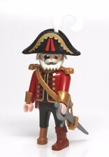 Playmobil Figure Old Pirate Captain w/ Grey Hair Eye Patch Hat Sword 3133 3174