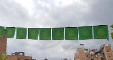 Green Tara  Printed  Tibetan Green Prayer Flags
