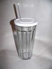 Luminarc Working Glass with Lid & Straw, Set of 6