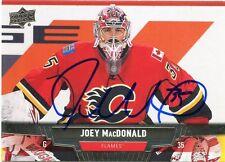 JOEY MACDONALD FLAMES AUTOGRAPH AUTO 13/14 UPPER DECK #169 *33623