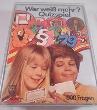 RARITÄT Quizspiel von 1979 600 Fragen WER WEIß MEHR Quiz Spiel Kinder Erwachsene