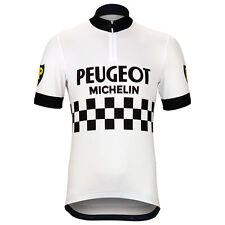 Peugeot BP Michelin Retro Cycling Jersey White