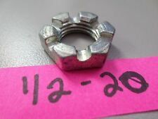 ½-20 SLOTTED NUT
