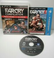 Far Cry Compilation (Sony PlayStation 3, 2014) PS3 Tested Free Shipping