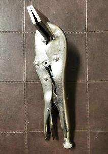 "10"" 250mm Multi Grip Locking Metal Plier Flat Mouth Vice Vise Grip Pliers #1151"