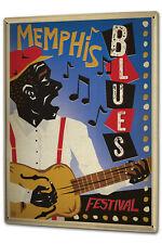 Tin Sign XXL Star  Memphis Blues