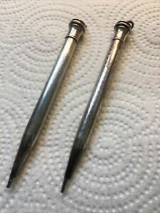 """Pair Wahl Sterling Silver Mechanical Pencils  4.25"""" Long"""