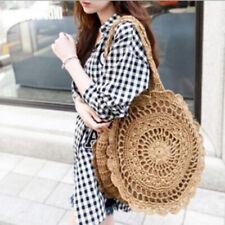 Bohemian Straw Bags for Women Beach Handbags Summer Rattan Travel Big Totes Bag
