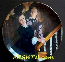 Melanie & Ashley 50th Anniversary Gone With the Wind Plate w Box/COA~Free Ship!