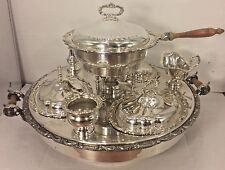 Silverplate Bain Marie Lazy Susan Banquet Server Birmingham Silver Co Antique