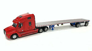 Freightliner Century Truck w/ East Flatbed Trailer - Red - Sword 1:50 Scale New!