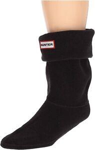 Hunter 265924 Women's Short Winter Fleece Welly Boot Socks Black Size Large