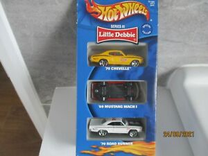 HOTWHEELS RARE FROM 2000 LITTLE DEBBIE SPECIAL EDITION 3 PACK SERIES 111