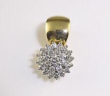 ANHÄNGER 585 Gold Brillanten Gelbgold 585er Clip-Öse Brillantanhänger