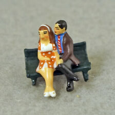 J CARLTON GAULT FRENCH MINIATURE FIGURINE COUPLE MAN AND WOMAN ON PARK BENCH