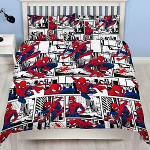 Spiderman Metropolis Double Duvet Cover Reversible Bedding Set