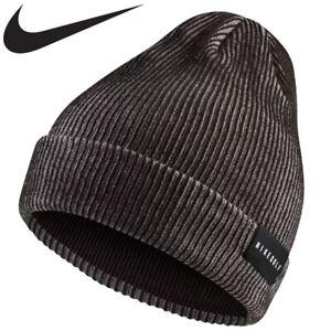 Nike Golf Hat Core Knit Beanie Cap Skully Skull Head Warmer Grå svart Unisex