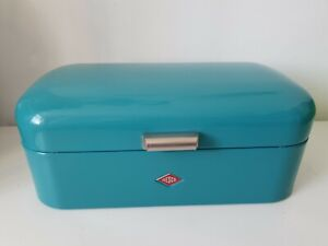 VINTAGE WESCO BLUE BREAD BIN