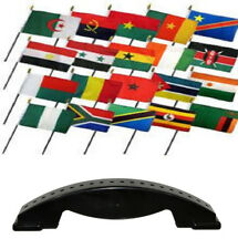 4x6 Africa African Country 20 Desk Set Table Stick Flags w/ 20 Hole Base Stand