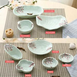 1x Elegant Melamine Plum Flower Tableware Sauce Dish Sushi Plate Dessert Dishes