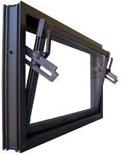 Kellerfenster braun 80 x 50 cm Einfachverglasung
