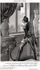 Francesco II por Borbón,Re Nápoles Franceschiello. Unidos de Dos Sicilie.1863