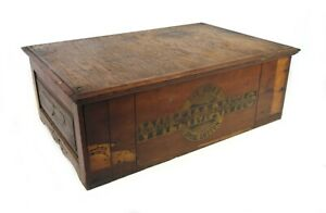 Antique Thread Cabinet 2 Drawer Willimantic Spool Cotton Company Best Six Cord