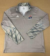 Adidas Mens Xl 1/2 Zip Athletic Pullover Gray