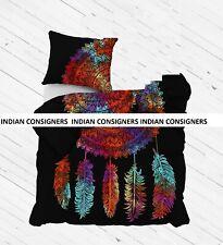 Duvet Cover Dream Catcher Design Multi Color Cotton Fabric Quilt Cover Indian