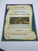 Book of Shadows MEGA MILLION LOTTERY WIN Spell Best Spells Magick