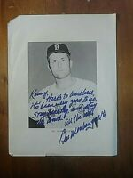 Bill Monbouquette Boston Red Sox Autograph Signed inscribed  Photo