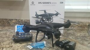 Holy Stone HS100 Drone GPS Live View FPV HD Camera Altitude Hold Follow Me Used