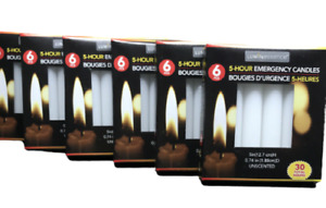 36 Emergency Candles 5 hr Burn Time Each Long Lasting Prepper Supplies - 6 Boxes