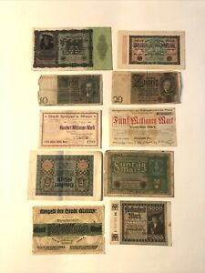 Set Of 9 Tickets Bank Germany REF64787