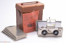 RARE*   GALLUS STEREO LUXUS CAMERA 6X13CM W/ INSTRUCTIONS, ROUSSEL 75MM LENSES