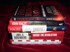Lot of 5 Books John Hagee Joel Rosenberg Implosion Four Blood Moons + More