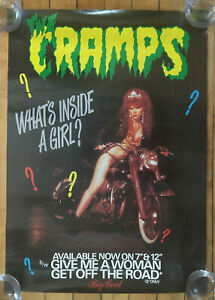 The Cramps What's Inside a Girl? Original Vintage Music Promotional Poster 1986